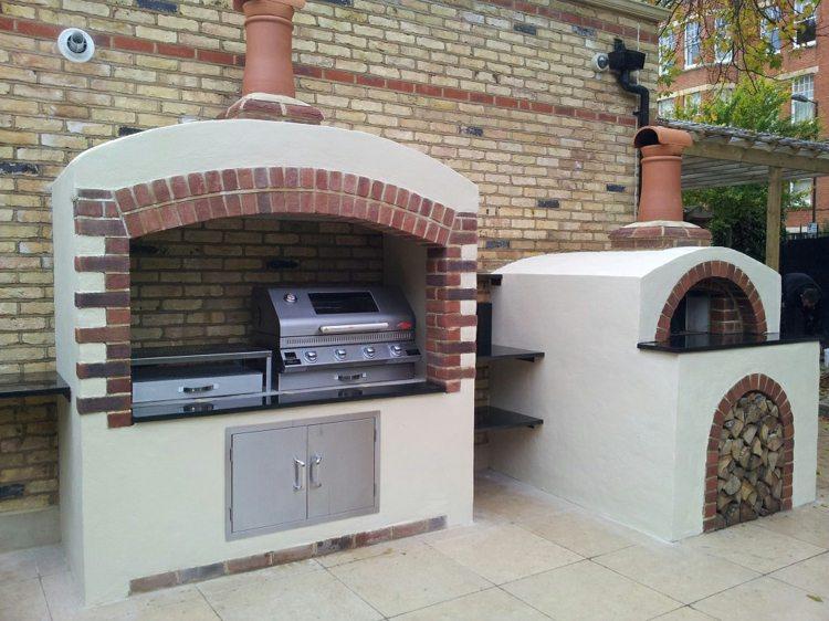 grill mit pizzaofen garten » terrassenholz, Gartengerate ideen