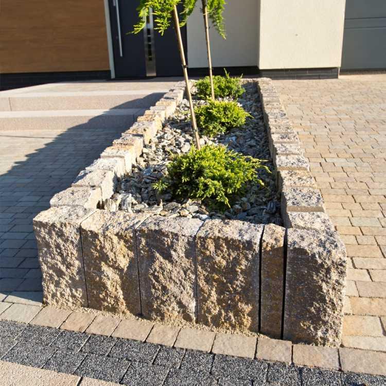 gartengestaltung pflege andschaftsbau granit palisaden ideen,