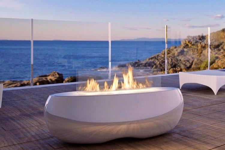 Outdoor Bioethanol Kamin  ein stimmungsvoller Blickfang
