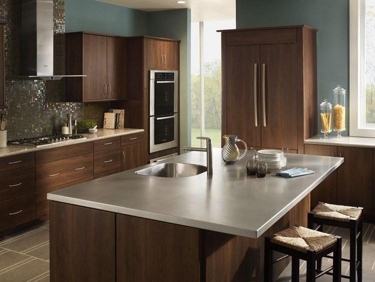 Dunkelbraune Arbeitsplatte Küche – Home Sweet Home