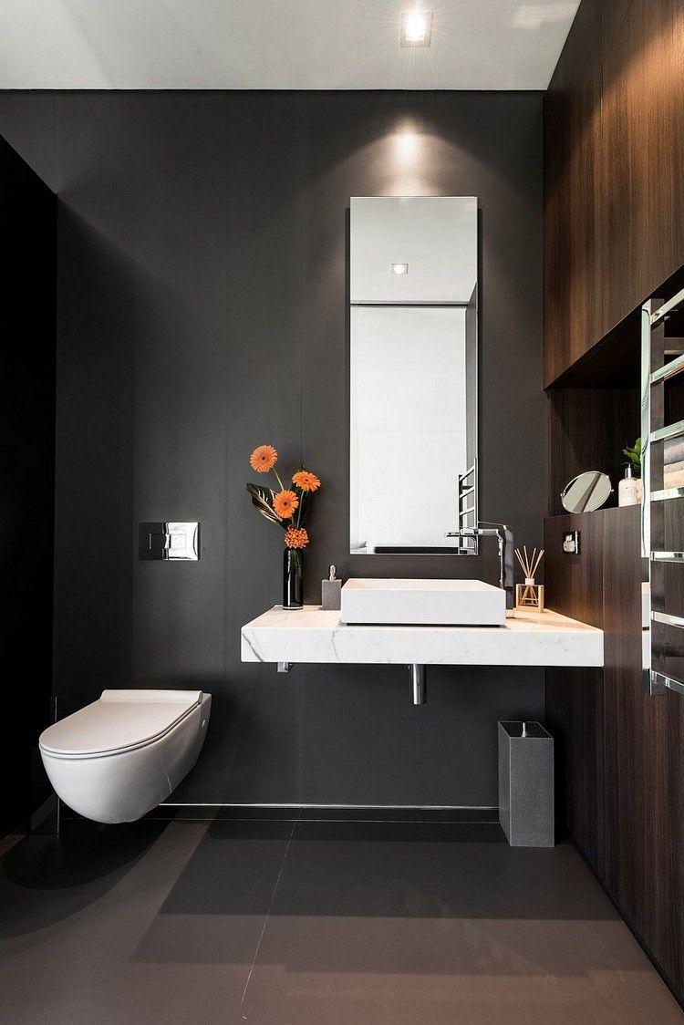 Gste WC gestalten  16 schne Ideen fr ein kleines Bad