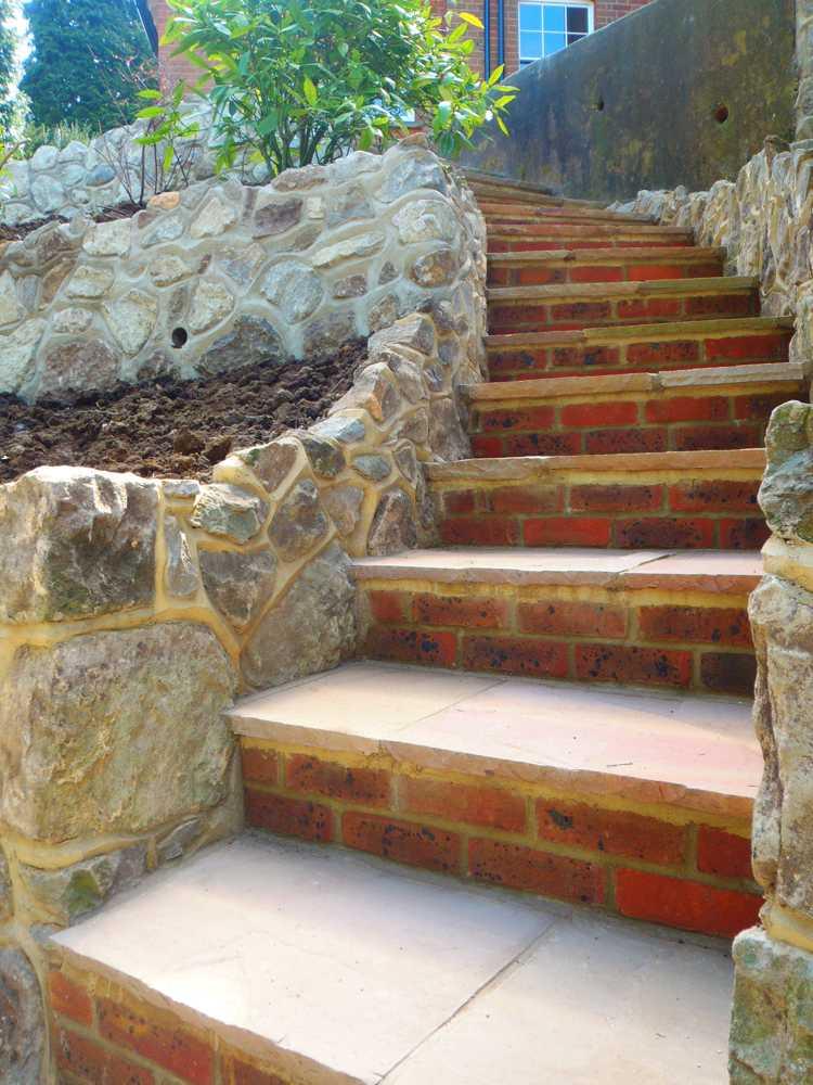 Gartentreppe selber bauen  47 Gestaltungsideen und Tipps