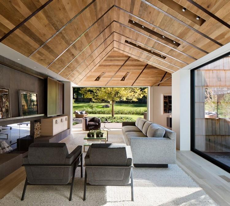 Holzschindeln fr Fassade und Dach  Einfamilienhaus in New York
