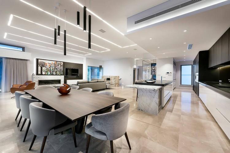 LED Deckenbeleuchtung  luxurises Einfamilienhaus in Australien