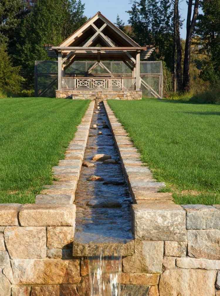 Terrassen Wasserspiel Udo Kannegieser Natursteinarbeiten