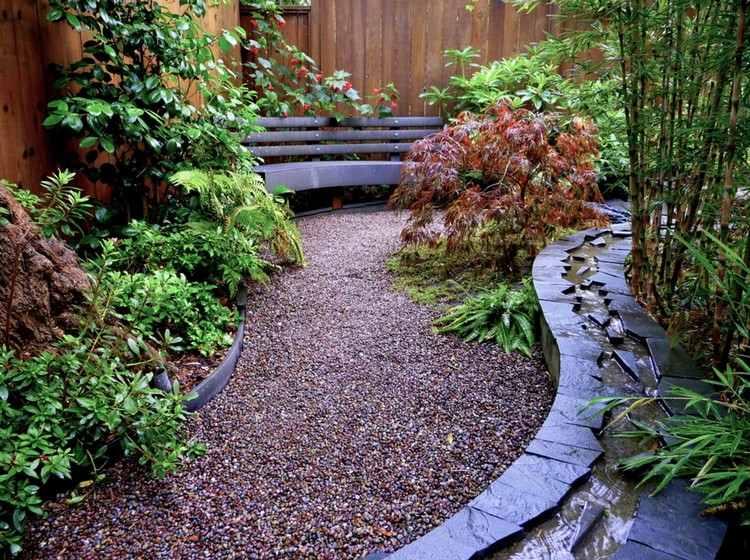 garten ideen moderner bachlauf im garten - boisholz, Garten und erstellen