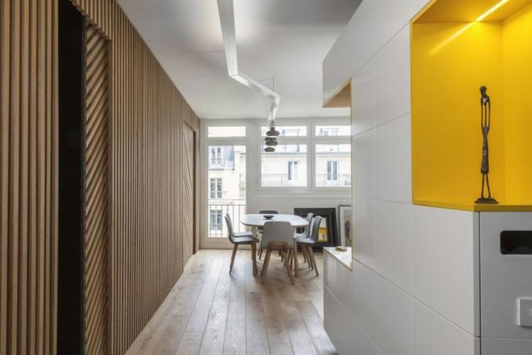 kinderzimmer hochbett modernes design gelbe farbe - boisholz, Wohnzimmer dekoo