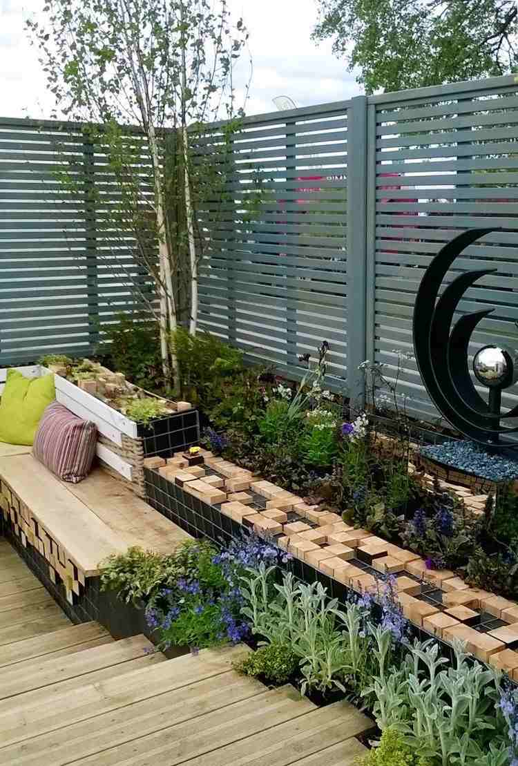 lamellenwand als sichtschutz fur terrasse und garten - boisholz, Garten und erstellen