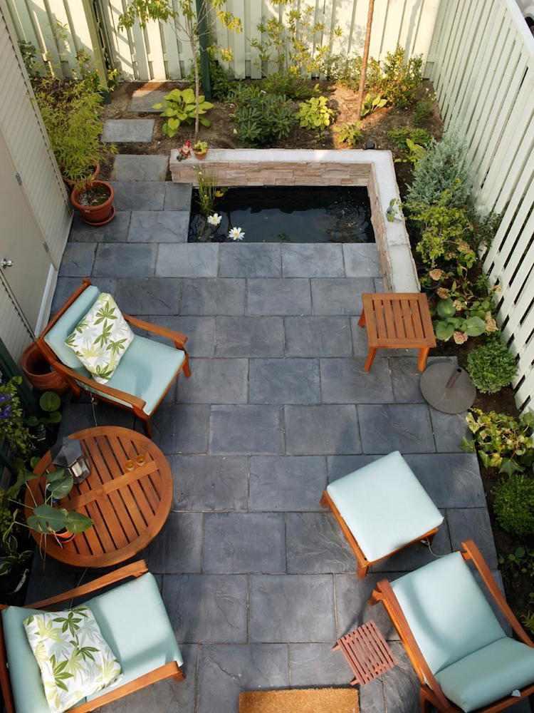 gartenabtrennung ideen sichtschutz zaun weiss stadthaus, Gartengerate ideen