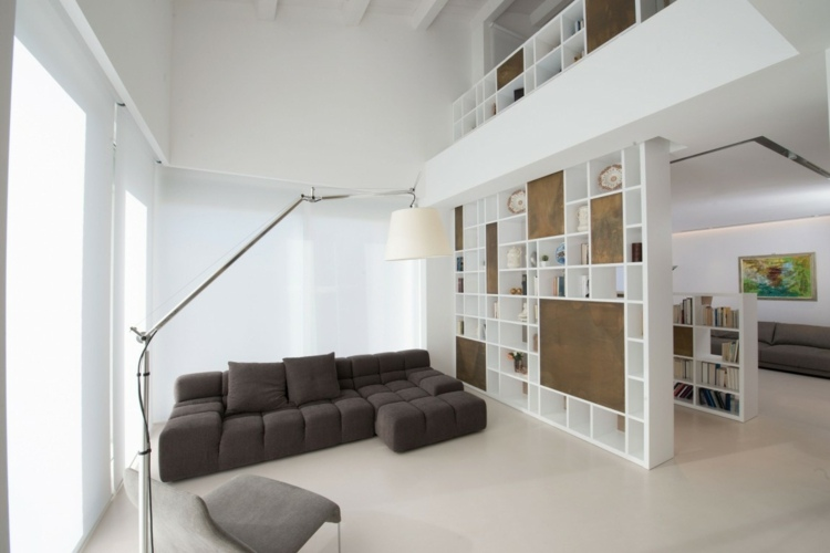 holz regal als raumteiler idee einrichtung. Black Bedroom Furniture Sets. Home Design Ideas