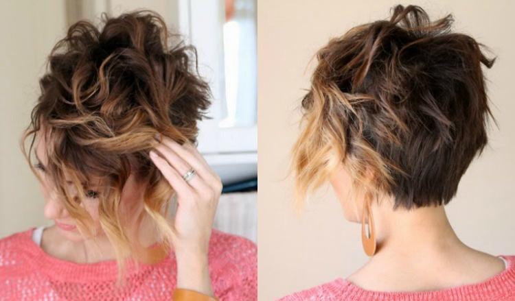 Kurze Haare locken  Frisuren mit Locken fr Kurzhaarschnitt
