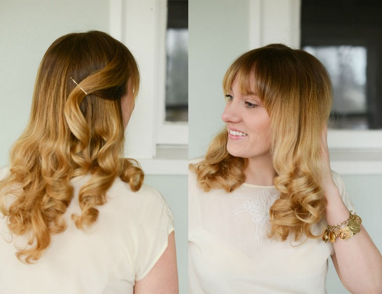 Locken mit dem Gltteisen machen Frisuren Hair Curls und