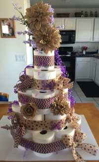 Torte aus Toilettenpapier selber machen - Torte anders ...