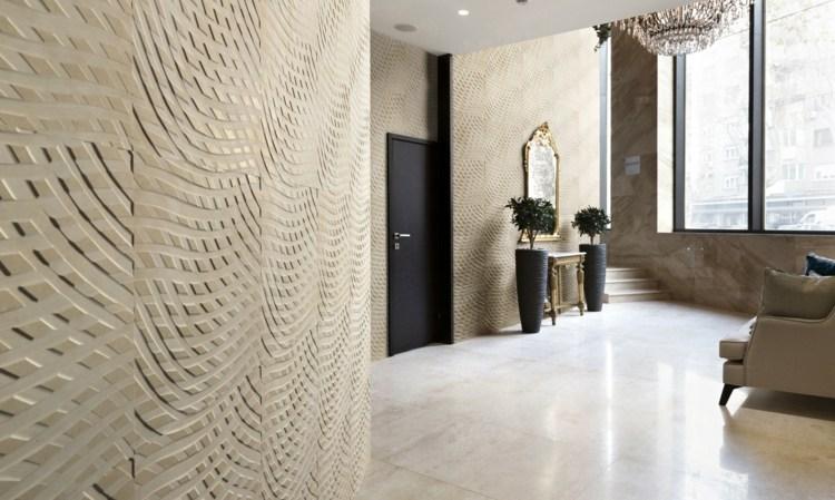 3D Wandgestaltung mit Stein Dekorative Ideen fr den Wohnraum