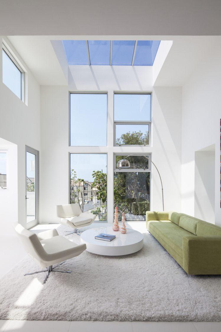 Farbe Wei fr innen und auen  modernes Haus in Kalifornien