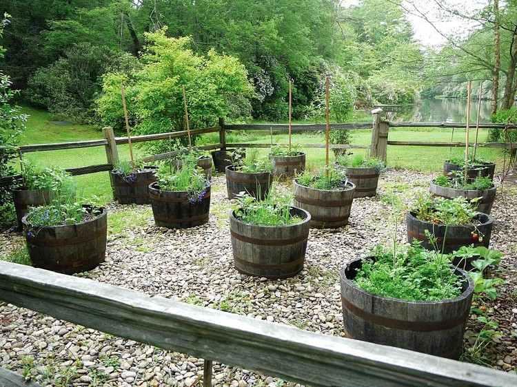 gartendeko holzfass - boisholz, Gartengerate ideen