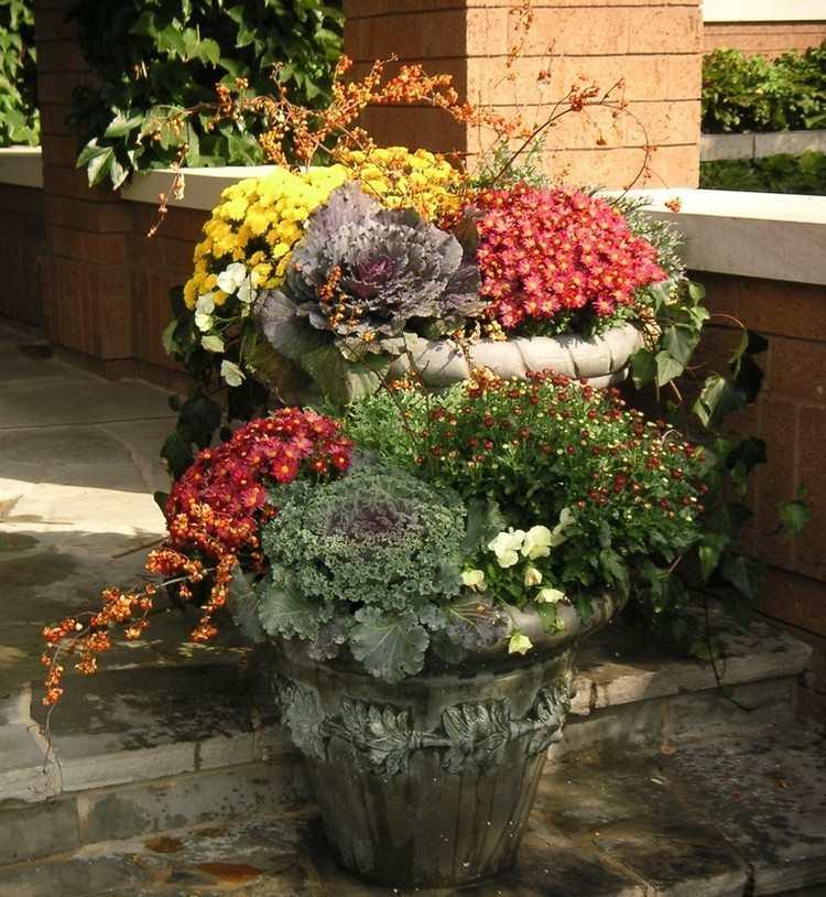 herbstbepflanzung balkonkaesten - boisholz, Gartengerate ideen