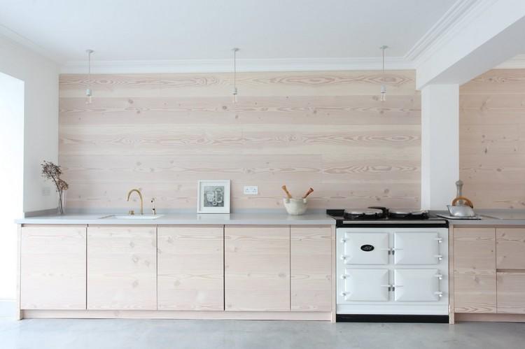 Kchenrckwand aus Holz statt Fliesenspiegel  20 Ideen und Tipps