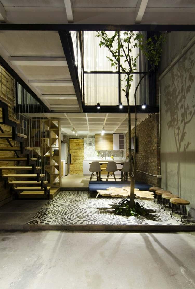 Offene Treppe aus Holz als Highlight fr die moderne Einrichtung