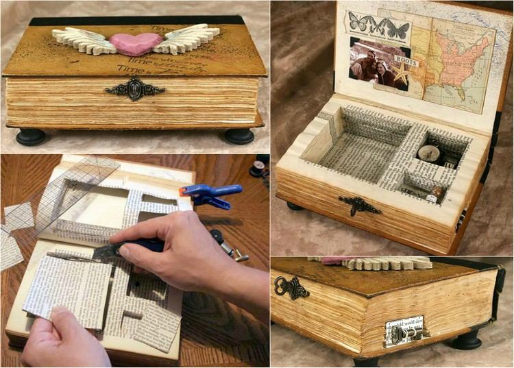Recycling Basteln mit alten Bchern  17 tolle Upcycling Ideen
