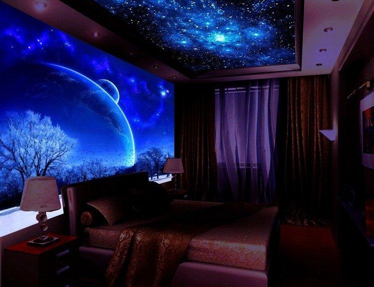 Schwarzlicht Farbe  16 eindrucksvolle Designs fr Wand und Decke