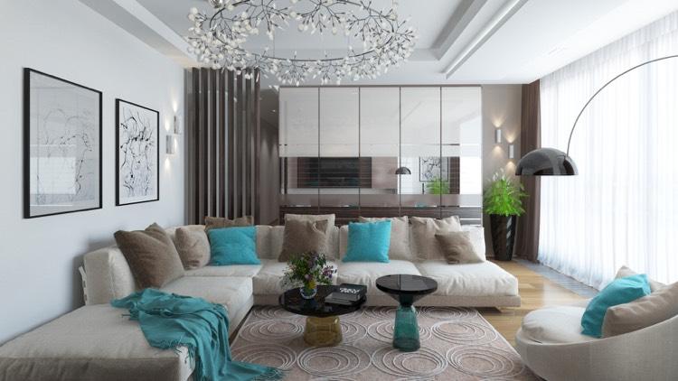 wohnzimmer turkis einrichten wohnideen
