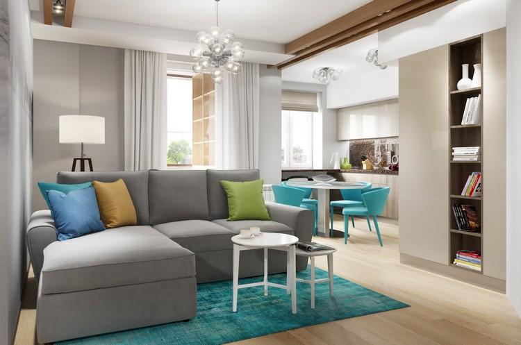 Deko Ideen Wohnzimmer in Trkis einrichten  19 Wohnideen und Farbkombinationen
