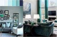 Wohnzimmer Blau Grau Braun