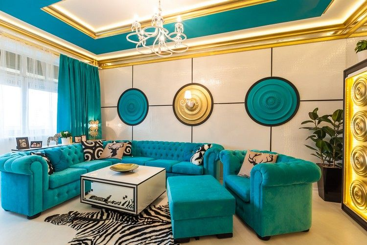 wohnzimmer turkis einrichten wohnideen wohnzimmer in türkis, Hause deko