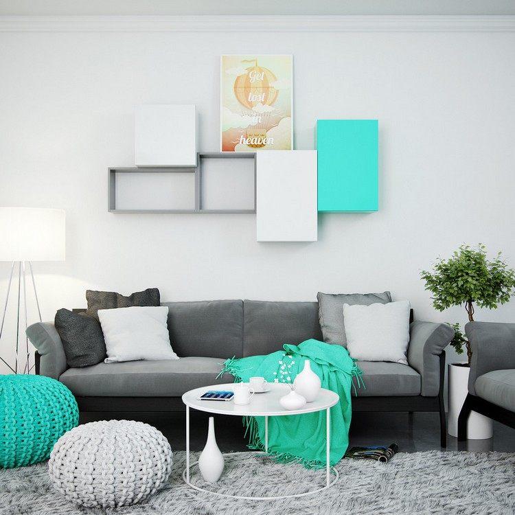 Wohnzimmer in Trkis einrichten  26 Ideen und Farbkombinationen