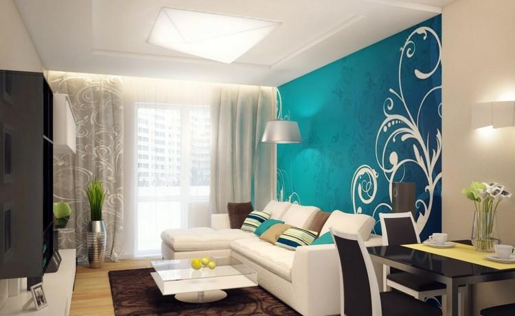 Wohnzimmer in Trkis einrichten  19 Ideen und