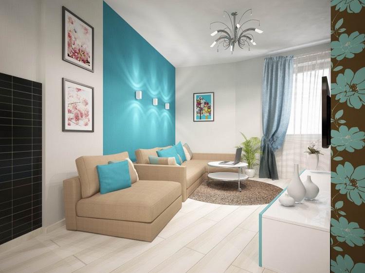 ... Wohnzimmer In Türkis Einrichten 26 Ideen Und