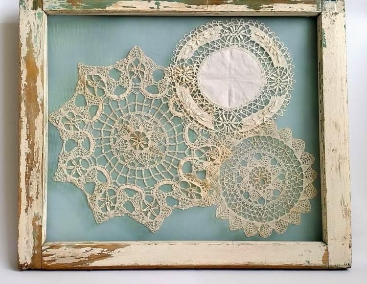 Basteln mit Spitzendeckchen fr attraktive DIY Dekorationen