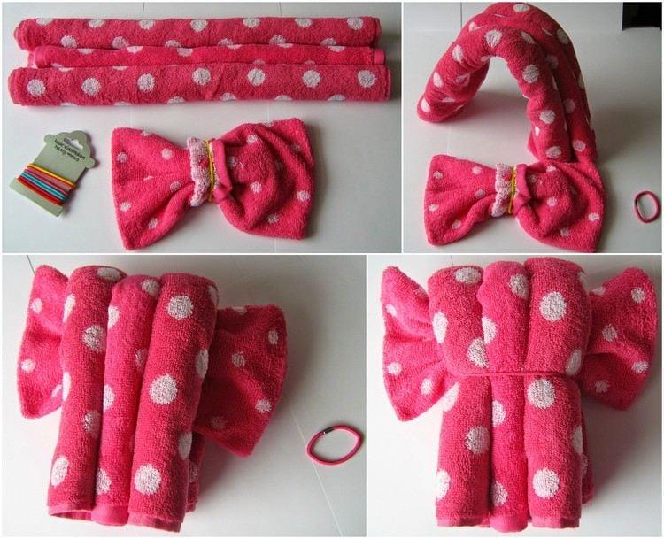 Top Handtuch Geschenke Selber Machen | Puppe Aus Handtüchern Basteln EI52