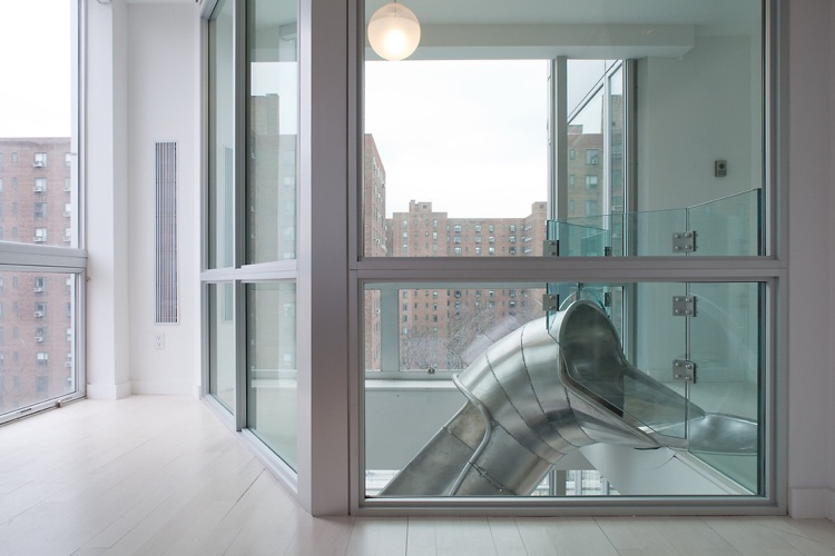 Moderne Treppen wie Kinder Rutsche  11 tolle Designs