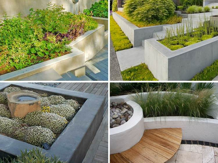pflanzkubel aus beton fur hochbeete moderne gartengestaltungen, Hause und garten