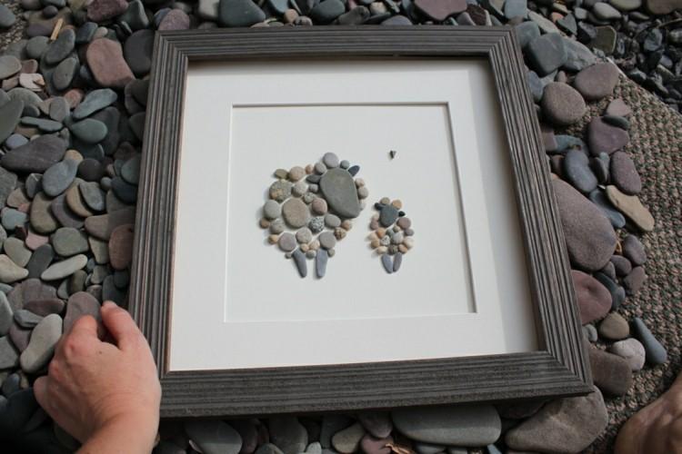 Bilder mit Steinen basteln  Eine hbsche Wanddeko aus
