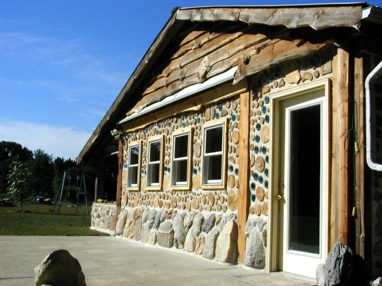 Haus Stein Holz Modern Modern House Eintrag Front Startseite