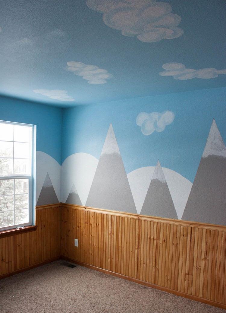 Wandgestaltung mit Farbe  Wandgemlde von Bergen selber