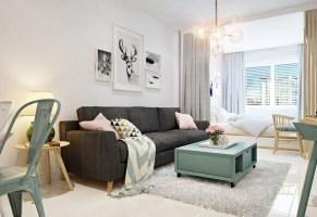 Bett im Wohnzimmer integrieren   3 Einraumwohnungen als ...