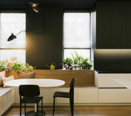 Ausziehbarer Esstisch in Wei bringt puristischen Look und Raffinesse