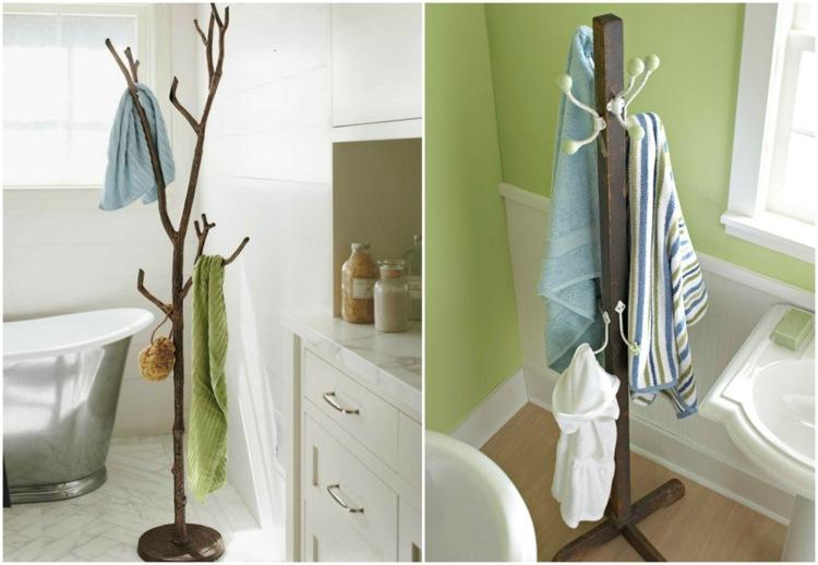 Handtuchhalter frs Bad  17 ungewhnliche und kreative Ideen