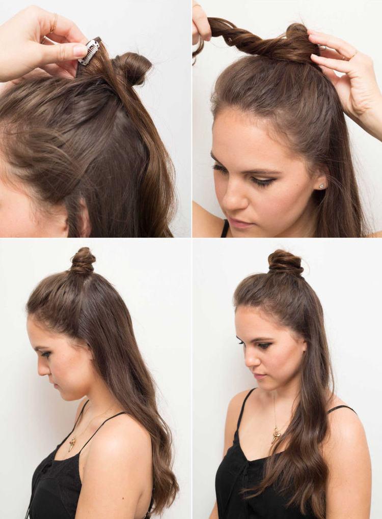 Neue Frisurentrends Fr Frauen Und Mnner Half Bun Frisur