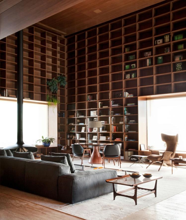 Wohnzimmer Regalwand  Eine Idee fr Stauraum und Wanddeko in einem