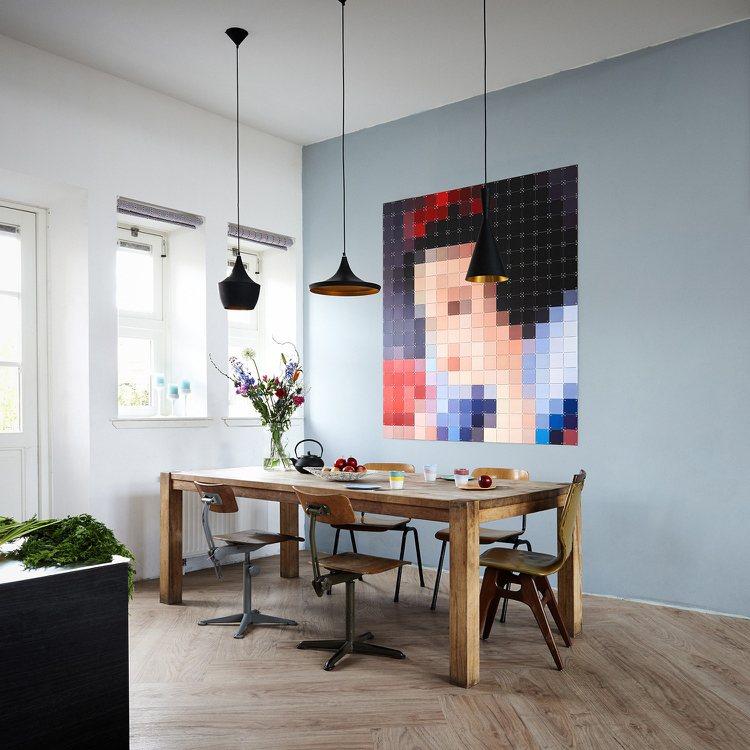 Archzinenet Ausgefallene Wandgestaltung U0027pixel Artu0027 Wohntrends Und Ideen ...