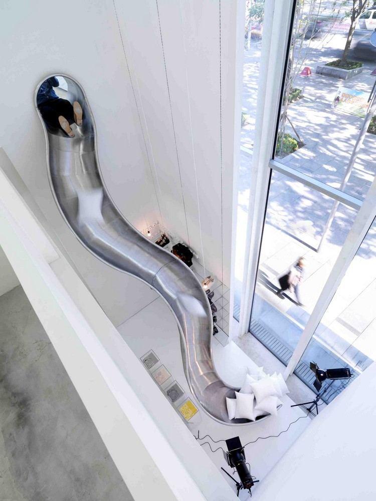 Schne Wohnideen mit Indoor Rutsche fr eine ausgefallene Einrichtung