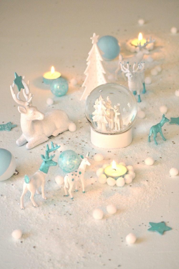 Weihnachtlich dekorieren in Pastellfarben fr ein
