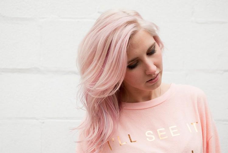 Haare Pastell Färben Rosa Lila Und Blau Als Haarfarben Trends