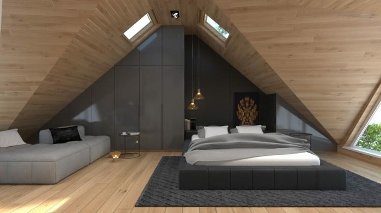 Möbel Unter Dachschräge | Tapeten Schlafzimmer Mit Schräge ...