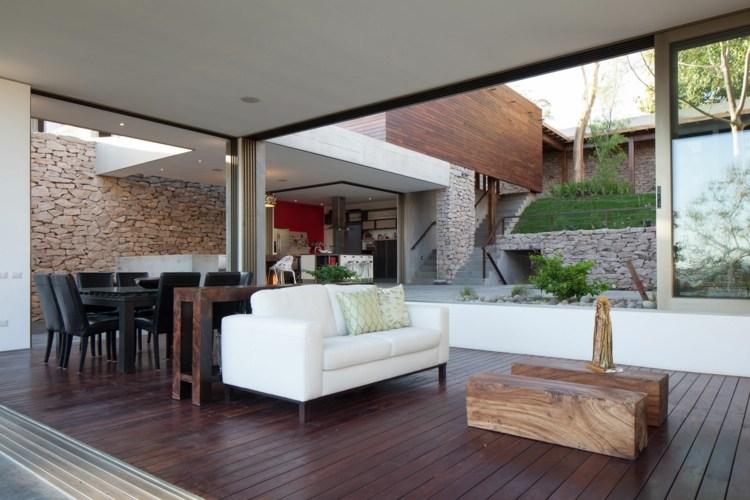 rustic modern homes » terrassenholz, Hause und garten